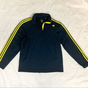 Adidas Mens Pullover Size Large Navy Blue